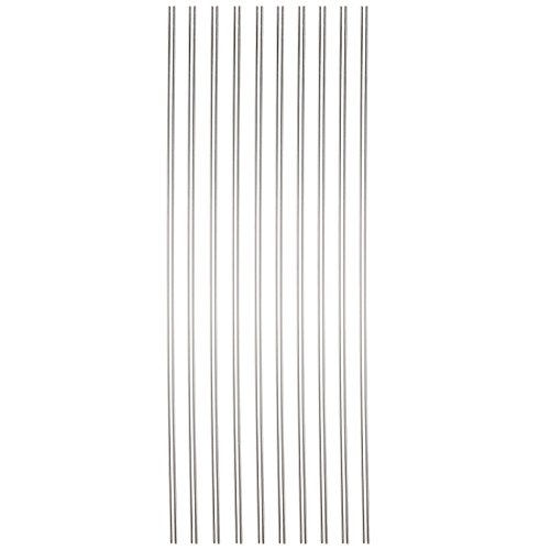 Sammons Preston 44571 Reusable Drinking Straws, Long Reusable Straws are Dishwasher Safe, Set of 10 Straws for Wine Bottles, Tall Cups, Large Glasses, & Thin Liquids, 1/8' Wide, Rigid
