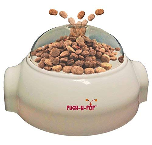 SPOT Push N' Pop - Interactive Slow Feeding Dog Food Dispenser - Award Winning - Mental Stimulation, Entertaining, Durable Ethical Pets