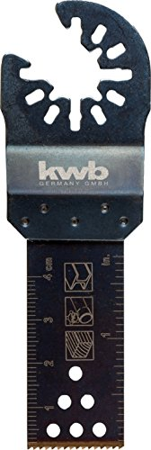 kwb AKKU-TOP Universal-Tauchsägeblatt - Multitool Säge-Blatt, 22 mm, für alle handelsüblichen Maschinen