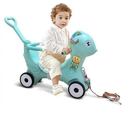 Kids Toddler Rocking Horse Pony, Ride-on Horse Pony Car Rocker & Roller 2 in 1 Ride-on Toy, Baby Balance Bike Nursery Rocking Chairs For 1-6 Years Old Boys & Girls 【UK IN STOCK】