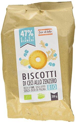 Fior di Loto Biscotti di Ceci e Zenzero Bio - 3 confezioni da 200 g [ 600 g ]
