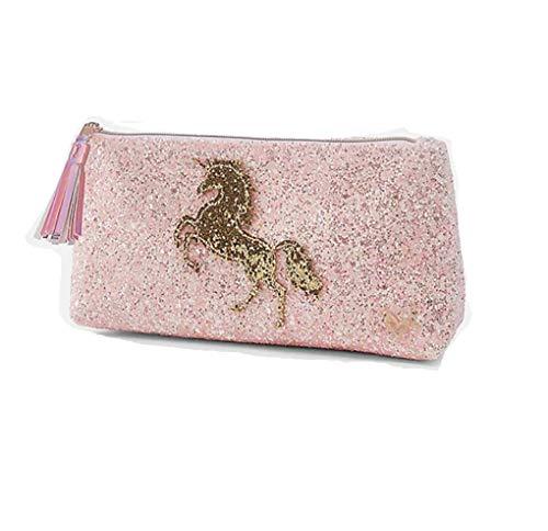 Justice Unicorn Pink Pencil Pouch