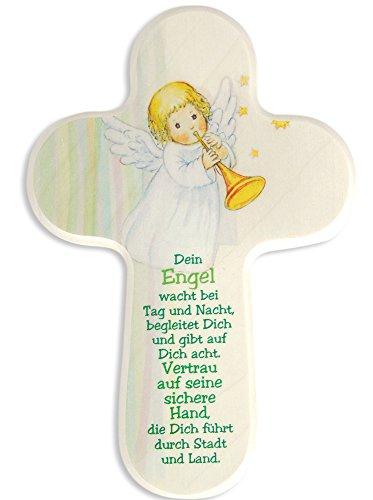 Kinderkruis engel met trompet