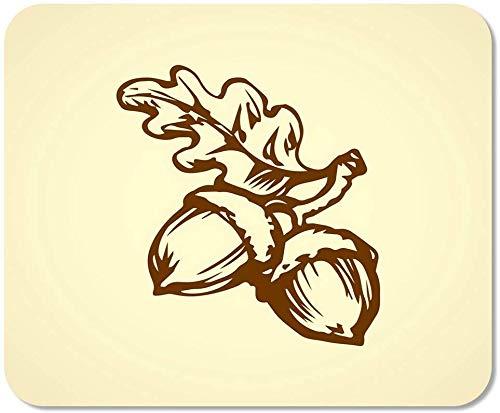 Mousepad Computer-Notizblock Büro Zwei große reife Rohe frische geschmackvolle Robur Quercus-Hülsen Hauptschulspiel-Spieler-Computer-Arbeitskraft, Gummimatte 11,8