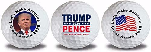 Donald Trump Mike Pence MAGA Flag 2020 3pk Golf Balls 10