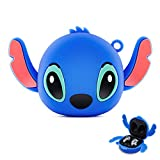 Woocon for Galaxy Buds Live Case, Soft Silicone Shockproof Case Cover New 3D Cute Cartoon Creative Fun Case Skin with Keychain Design for Samsung Galaxy Buds Live 2020 (Blue)