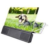 Tonysa Lupa para teléfono HD de 12', Amplificador de Pantalla Amplificador, Lupa Universal para Pantalla de teléfono móvil 3D para Todos los teléfonos Inteligentes Proyector Películas Videos