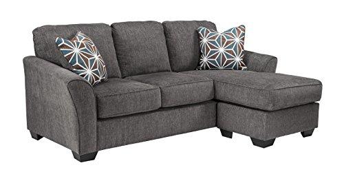 Benchcraft - Brise Contemporary Sofa Chaise - Slate Grey
