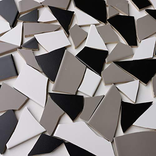 Fliesenbruch frostfest Verschiedene Mixe Mosaik Bruchfliesen (3.5, Graumix)