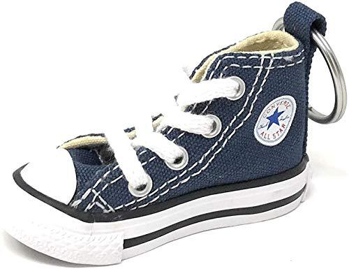 Llavero Converse All Star Chuck Taylor Sneaker Llavero auténtico (azul marino/blanco), 5 x 5 cm