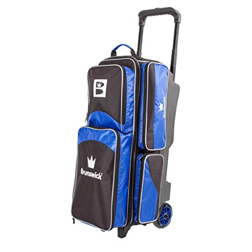 Brunswick Edge Triple Roller Bowling Bag, Blau