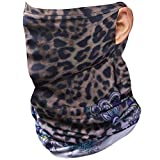 SUMADE Adult Face Gaiter,Bandana Design Face Mask with Ear Loops Muslin Mask Pull Up Neck Face Cover Washable Neck Gaiter Made in USA Mask Scarf with Ear Loops Lined