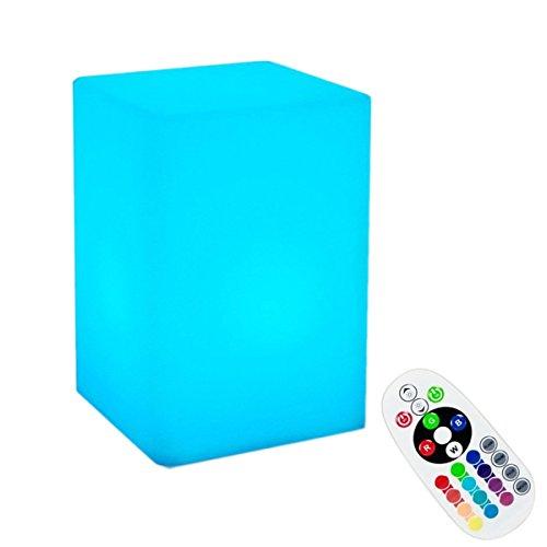 Lampe de LED Table Cube Lumineux,KINGCOO Lampe D'ambiance LED Boule Rechargeable de Nuit 16 Couleurs Changeables avec Télécommande pour Décoration de Mariage Noël anniversaire cadea (10x15cm)