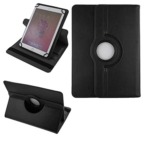 COOVY® 2.0 360° Rotation Cover Universal für alle 9/10 / 10.1 Zoll Tablet Modelle Hülle Tasche Etui Hülle Schutz Ständer | UNIVERSAL 10.1 schwarz
