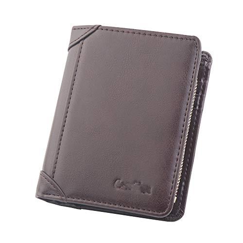 YYXDP Herren Geldbörse Short Retro Card Holder Wallet Herren Kreditkarteninhaber Coin Pocket Wallet