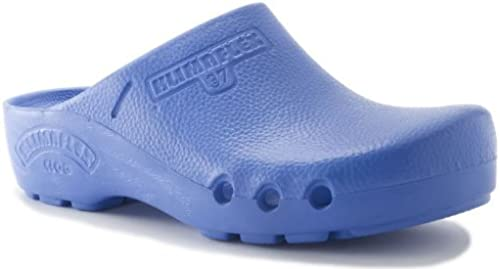 World of Clogs Toffeln Klima Flexible Flexible 0165 - Bleu Moyen  pas cher et de la mode