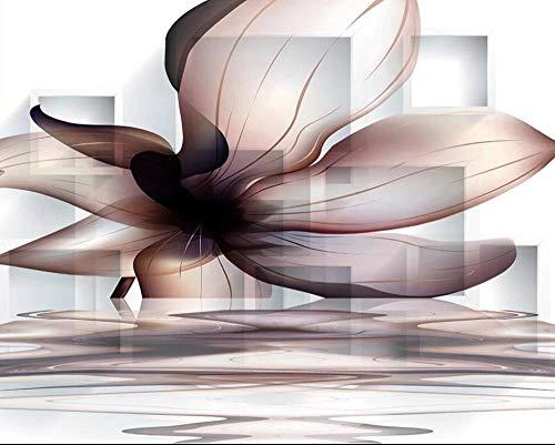 Custom 3D Fototapete Schlafzimmer Wandbilder Transparente Magnolienblütenreflexion Foto Hintergrund Wand Vliestapeten Für Wohnzimmer-350cmx256cm