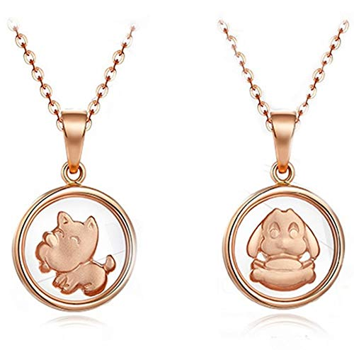 Dreamdge 18K Gold Necklace Dog Womens Necklaces, Pendant Necklace Jewelry Gift for Girls