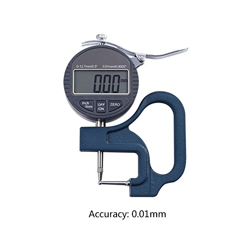 Digital Fühlerlehre Dickenmessgerät Dickenmesser 0.01mm/0.001mm für Stahlrohr Aluminiumrohr Stroh Dickenmessung (0.01mm)