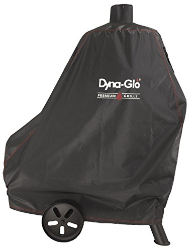 "Dyna-Glo DG1382CSC Vertical Offset Charcoal Smoker Grill Cover, Fits Size Up to: 46"" W x 25"" D x 60"" H (116.8 x 63.5 x 152.4 cm), Black"
