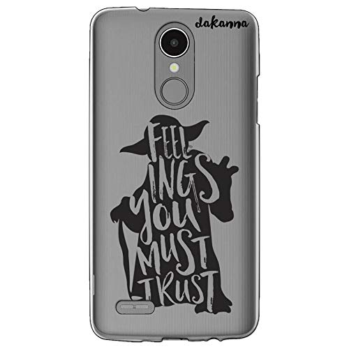 dakanna Funda para LG K8 2017 - K4 2017 | Frase motivación Feelings You Must Trust | Carcasa de Gel Silicona Flexible | Fondo Transparente