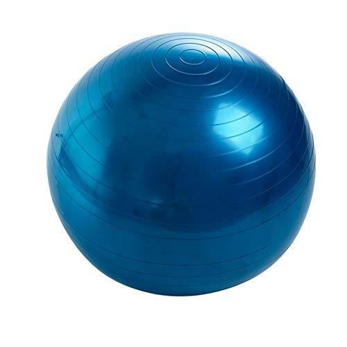Sebasti Ejercicio Fitness Yoga Bolas (enviar: bomba de aire, tapón de aire, tirón de aire) se venden uno por uno azul [inflador] tamaño-diámetro 55 cm material-PVC
