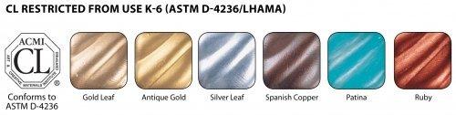 Rub N Buff Wax Metallic Finishes 6 Color Sampler Set 76336R