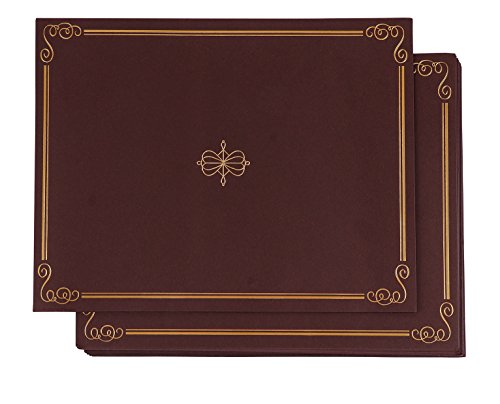 12-Pack Certificate Holder - Diploma Cover, Document Cover for Letter-Sized Award Certificates, Brown, Gold Foil, 11.2 x 8.8 Inches