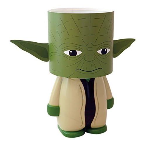 Look Alite Usb-H25X13X12 Cm Star Wars Yoda Lampada LED da Scrivania con Funzionamento A Batteria O Micro USB, Multicolore, 25 x 13 x 13 cm