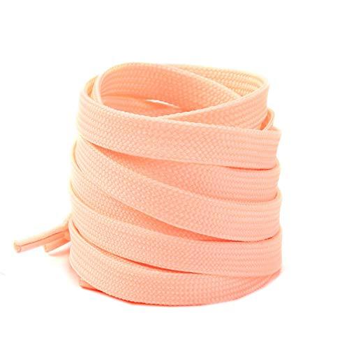 Friendshiy Schnürsenkel, flache Schnürsenkel, weiße Spitze, klassisch, flach, doppelt gewebt, hohl, - Orange Powder - Größe: 120