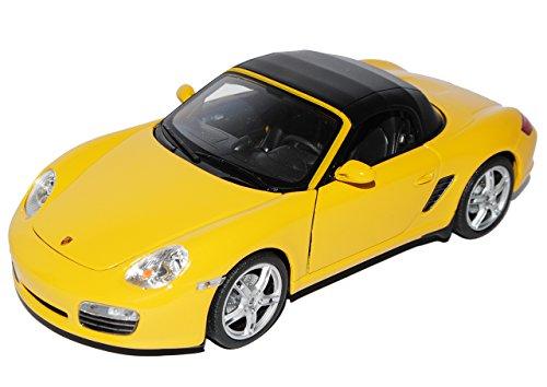 Bester der welt Welly Porsche Boxster S987 Gelbes Verdeck Modell 2004-20121 / 24