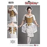 Simplicity Schnittmuster 8579 Korsette, Kostüme D5 (36-38)
