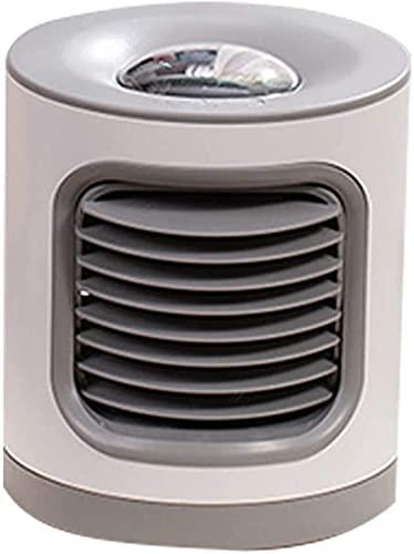 XJYDS 3 in 1 mini condizionatore d'aria, dispositivo di raffreddamento ad aria portatile Spazio personale di raffreddamento personale, ventilatori desktop alimentati USB, 3 velocità e 7 colori LED luc