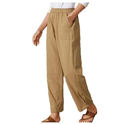 POTOU Hosen Damen 7 8 Hosen Damen Sommer Hosenanzug Damen Festlich Elegant Damenhosen Sommerhose Damen Kurz Jogginghose Damen