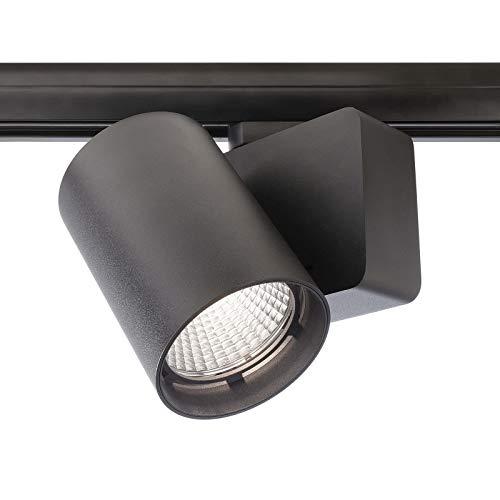Foco LED foco 30 W faro track riel trifase luces tienda oficina ra90 230 V 4000K Negro