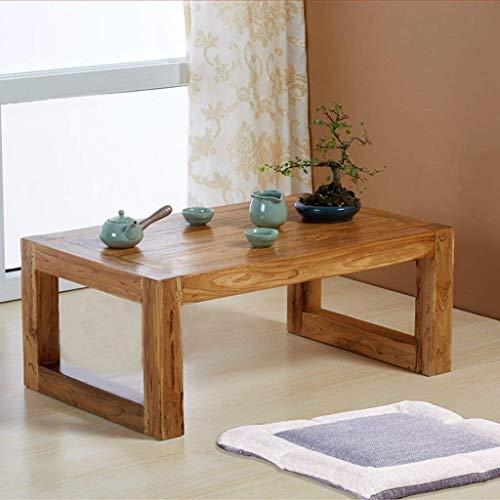Goede Tv staande lamp telefoontafel sofa bijzettafel eiken tafel koffietafel woonkamermeubels tafel massief tafel computertafel multifunctionele tatami tafel bedtafel hoog belastbaar (kleur: tafelmaat: 55 55 * 35 * 30 cm hout