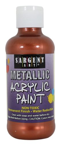 Sargent Art 25-2394 8-Ounce Metallic Acrylic Paint, Copper