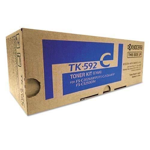 Kyocera TK-592C Cyan Toner for Use In FSC2026MFP FSC2126MFP 5,000 Page Yield Als