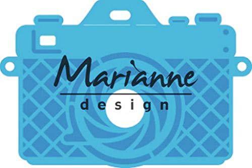 Marianne Design Creatables Plantillas de Corte y Embossing, Cámara fotográfica, para Proyectos de Manualidades de Papel, Metal, Azul claro, Small