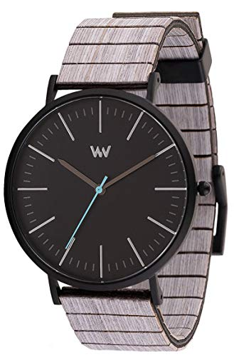 WEWOOD Unisex Analog Japanischer Quarz Uhr mit Holz Armband WW61004
