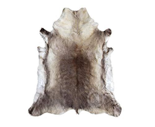Tappeto in pelle di renna XL, 100 x 150 cm, colore: grigio