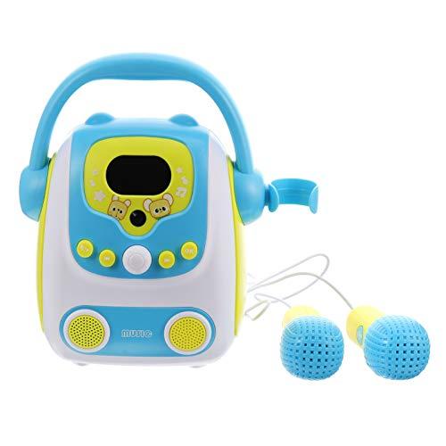 Tomaibaby Kinder Karaoke-Maschine mit Mikrofon Drahtlosen Gesangslautsprecher für Kleinkind Jungen Mädchen FM Radio Kinder Kinder Maschine Geburtstagsgeschenk Blau