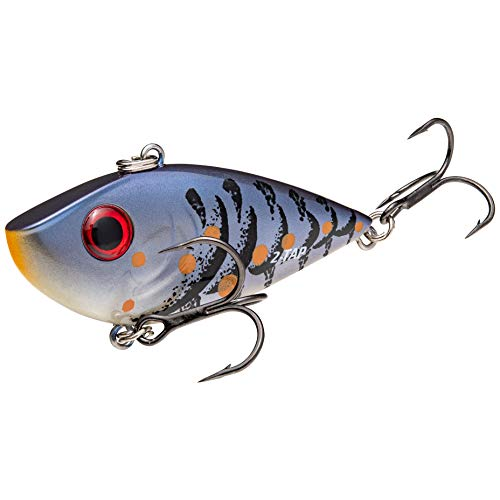 REYESDTT12-108 Strike King Lures, Red Eye Shad Tungsten 2 Tap, 2 1/2' Body Length, Variable Depth, 2 No 6 Treble Hooks, Blue Craw, per 1