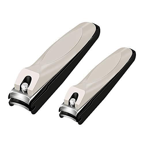 Gotofine Nagelknipser mit Sammler (2 Stück)-Verhindern Sie Nagelspritzer,Nagelzwicker Für Finger und Zehennagel, Rutschfester Griff, Hochwertigster Edelstahl,Einfache Nagelpflege.