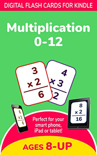 Multiplication 0-12: Digital Flash Cards (Elementary Math, Common Core, 3rd Grade, 4th Grade) - Learn Times Tables for Ages 8+