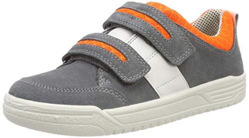 Superfit Jungen Earth Sneaker, Grau (Hellgrau/Orange 25), 35 EU