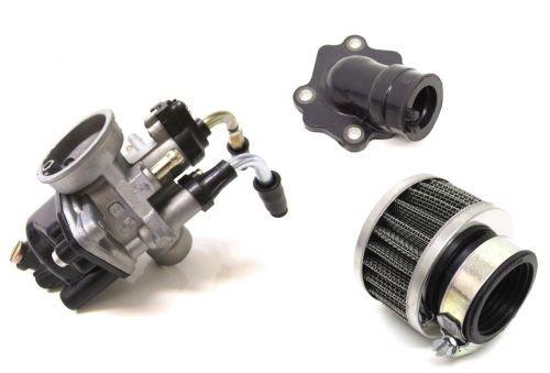 17,5 mm Tuning Vergaser Kit & Ansaugstutzen für Yamaha Neos Jog RR Aerox, MBK Nitro Ovetto Mach G AC LC