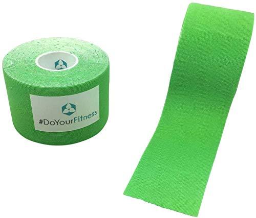 #DoYourFitness x World Fitness WFX 1x Kinesiologie Tape [5m x 5cm LxB] - Lange Tragezeit - elastische Bandage für Sport - Selbsklebend, 100% gewebte Baumwolle, Wasserresistent, Latexfrei - Hellgrün