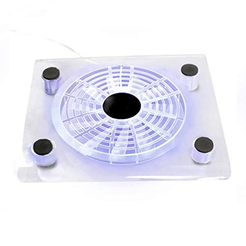 SOLUSTRE Pad de Refroidissement pour Ordinateur Portable Ventilateurs de Refroidissement Silencieux Actionnés par USB Refroidisseur de Support pour Ordinateur Portable avec Lumière LED