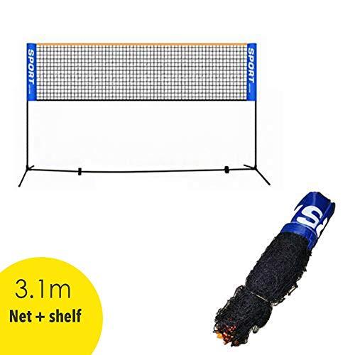 Adminitto88 Filet de badminton Outdoor Trainingsnetz, Professionelles Badminton Netz Standard-Badmintonnetze Garnitur nylon filet de volley-ball de tennis avec des poteaux pour la plage d'arrière-cour